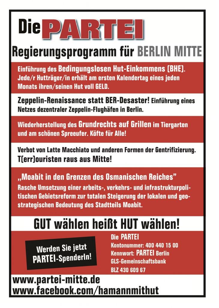 Flyer – Die PARTEI Berlin