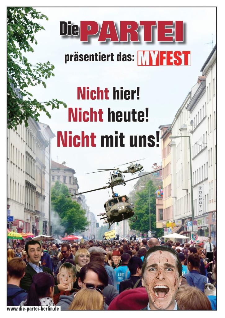Mai-Flyer der PARTEI Berlin